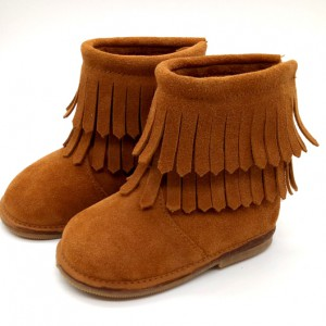 winter best first double tassel suede cheap moccasins booties size 3 brown baby walking boots